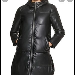 Levi's faux leather puffer jacket